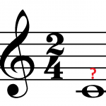 Whole note in 2/4 time